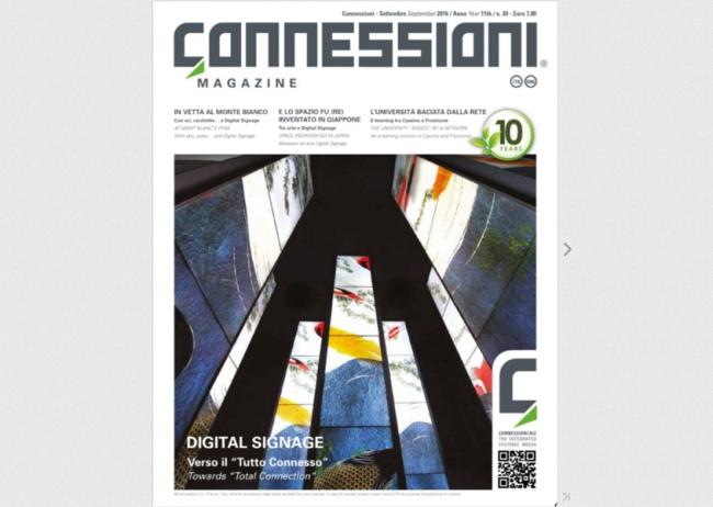 videoMOOD™ protagonista dello speciale dedicato Digital Signage della rivista Connessioni