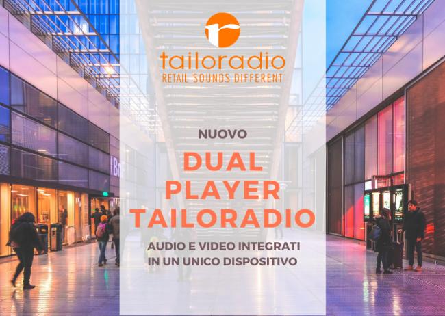 Il Dual Player è finalmente realtà: un unico dispositivo per controllare e riprodurre sia i contenuti audio che video in negozio.