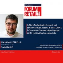 Tailoradio è Silver Sponsor del Forum Retail 2018!