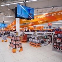 Unieuro punta sulla comunicazione video per lo store di Bologna, in via Cristoforo Colombo!